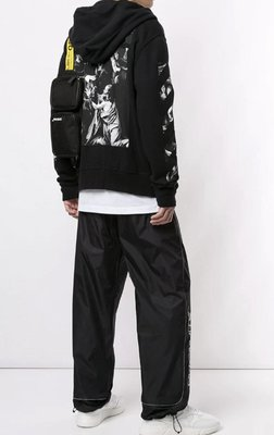 OFF-WHITE Caravaggio print Zip-up hoodie