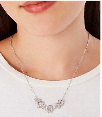 Kate Spade precious pansy pave statement necklace限時優惠