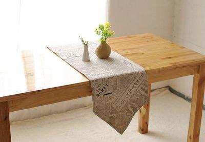 【#014 newspaper】棉麻桌旗 ♥30*140cm ♥桌巾♥桌墊♥多尺寸可選♥ :::宅優物:::