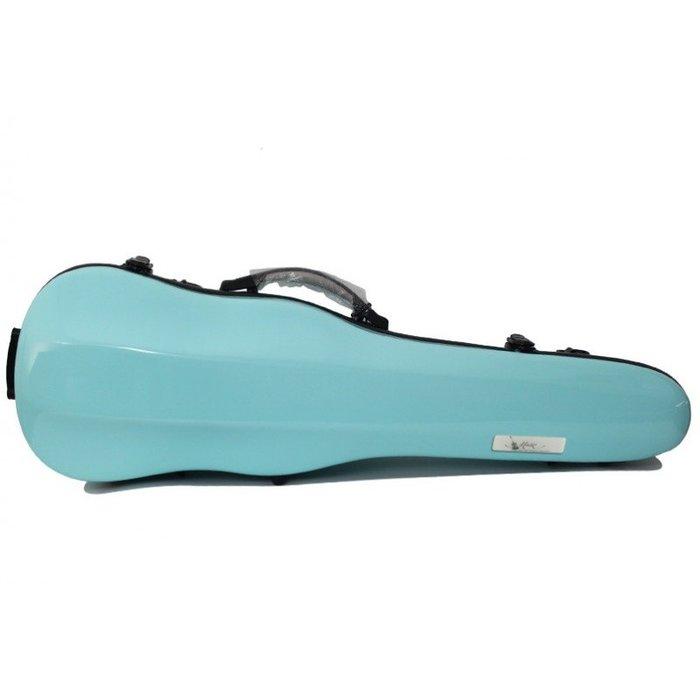 【三益琴行】水藍色小提琴硬盒