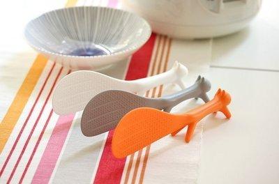 松鼠飯勺 可站立不沾飯神奇飯勺 日版韓版可愛創意造型 會站立的飯匙 飯杓 廚房法寶