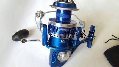 【NINA釣具】OKUMA AZORES 阿諾 捲線器 8000型 特仕版 紡車式捲線器