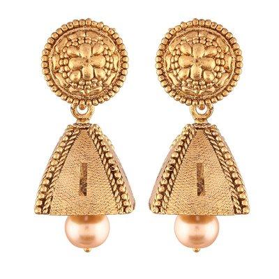 印度舞界 耳環High Gold Plated Jhumki/Jhumkas