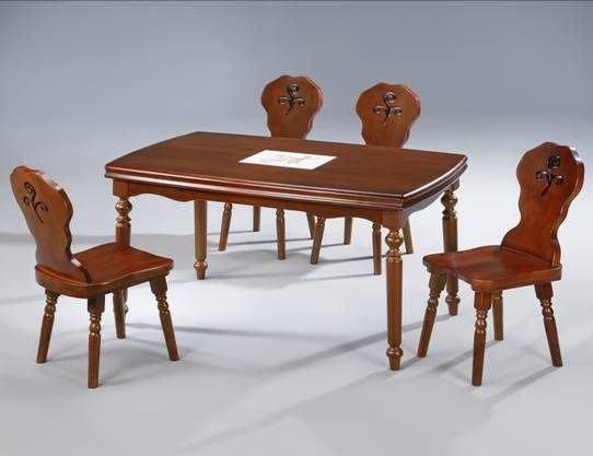 【布拉格歐風傢俱】英式鄉村 實木磁磚 餐桌