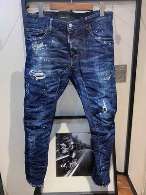 現貨【DSQUARED 2】2019春夏 深色水洗黃漆TIDY BIKER牛仔褲 *35%OFF*