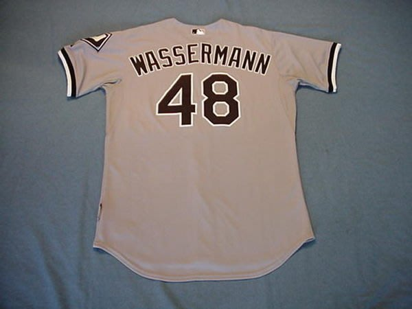 2008 MLB WHITE SOX #48 WASSERMANN GAME USED ROAD JERSEY