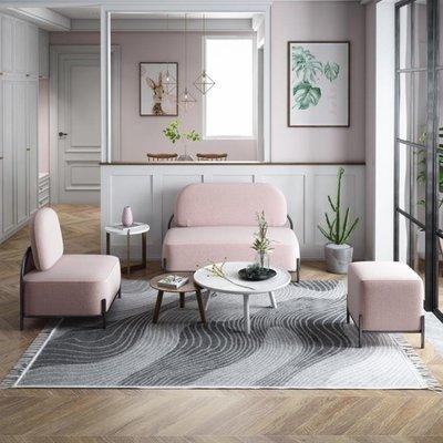 鐵梵北歐小戶型客廳沙發網紅款現代簡約臥室雙人少女心布藝省空間 NMS免運
