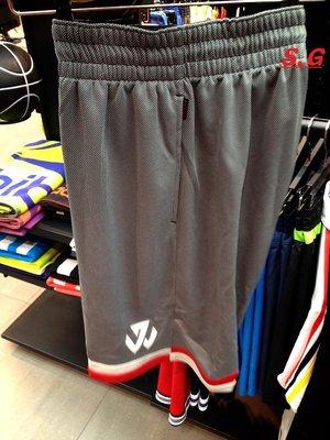 S.G Adidas John Wall 男 運動 透氣 休閒 籃球短褲 AC0407 灰白