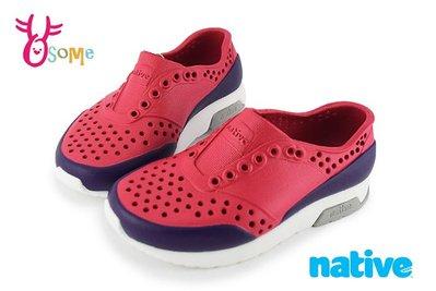 native LENNOX BLOCK 洞洞鞋 小雷諾系列 中小童 休閒鞋 K9477#紅色OSOME奧森童鞋