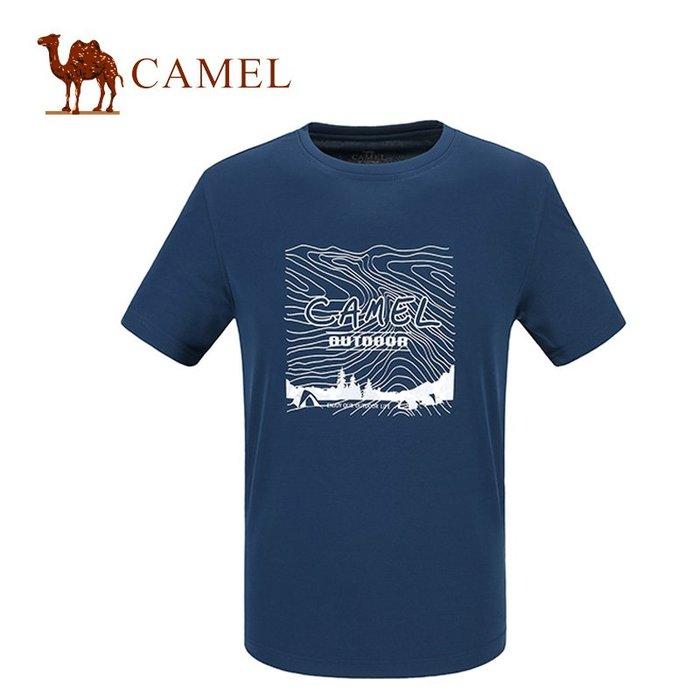 時尚服飾Camel駱駝透氣短袖快干圓領中性戶外運動排汗跑步男速干A7S209216