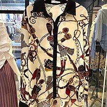【莉莎小屋】正韓 秋冬新品(現貨) 💝韓國連線-領袖配色鍊條皮帶流蘇圖排扣上衣 👚👖OS210129
