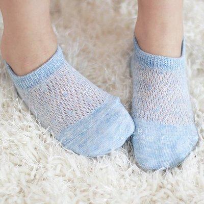 【可愛村】透氣網眼棉感舒適船襪 童襪 兒童短襪 透氣襪 網眼襪