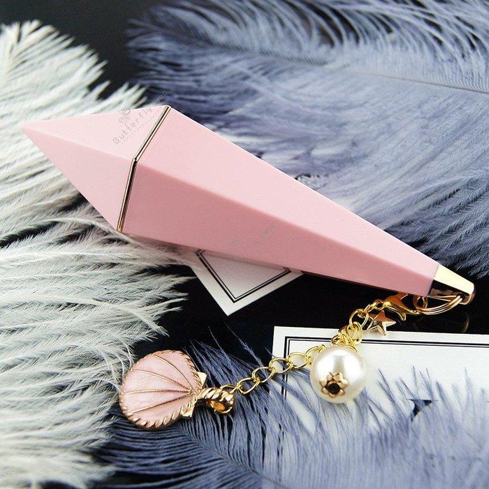 高檔粉色獨角獸鑽石六角口紅空管 6款式供選 DIY12.1口紅管空管 手工口紅材料自製(現貨)