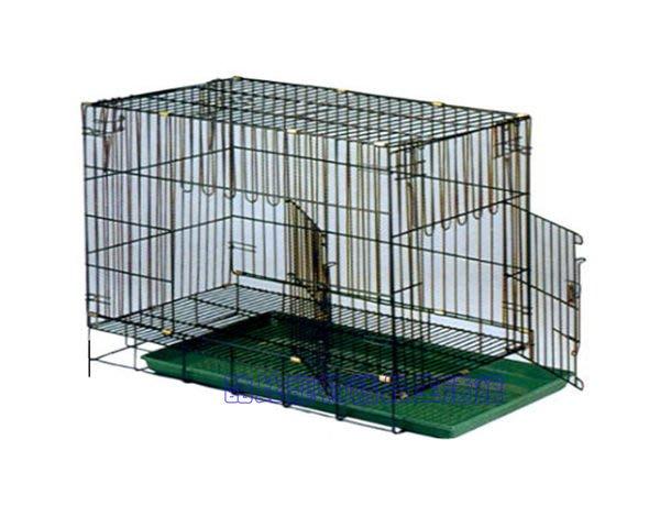 ◎酷比寵物精品生活館─1館◎台灣製造2.5尺靜電籠折疊式狗籠(黑色).$590