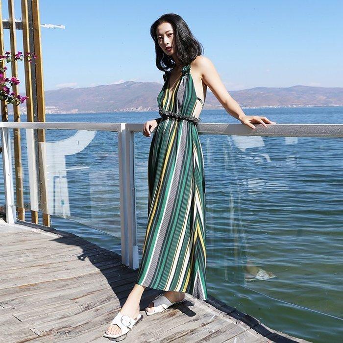 ♥韓 實拍 ♥ 海邊度假沙灘裙長裙E6066波西米亞連衣裙 洋裝 連身裙