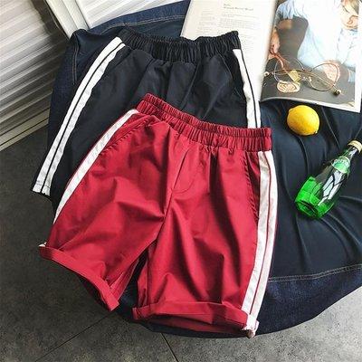 夏季五分褲男士褲子韓版潮流港風休閒褲短褲直筒青少年沙灘褲學生