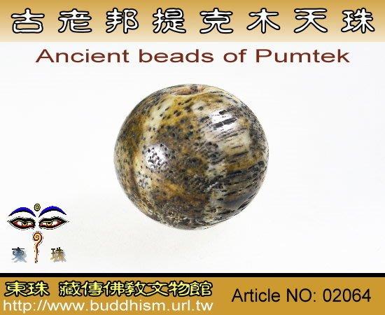 【東珠文物】古老喜瑪拉雅邦提克木珠系列。02064