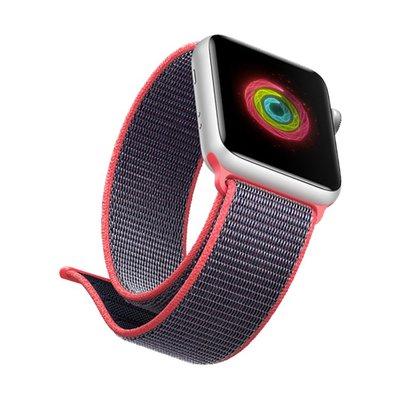 小胖 Apple Watch Series 4 123代 撞色尼龍帆布回環磁吸運動蘋果手錶錶帶 40 44mm 替換腕帶