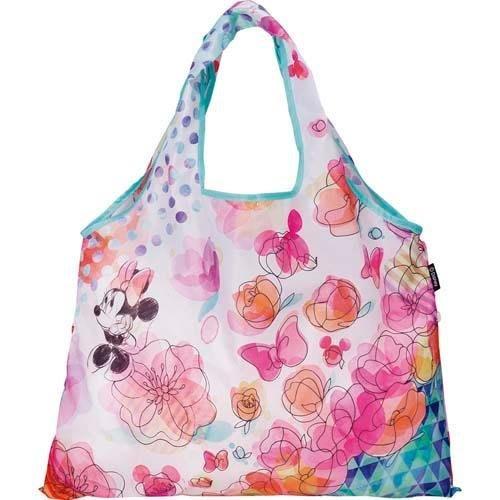 日本 米妮花朵 手提側背兩用包 購物袋~附收納袋