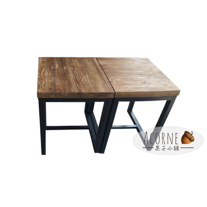 果子小舖. 美式鐵藝餐桌 實木方形創意工業風家具 做舊酒吧小型咖啡桌606075