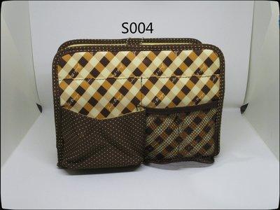 皮姐包弟『S004』可摺疊袋中袋 包中包 收納袋-咖啡色-可