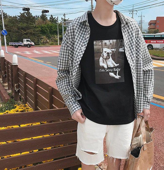 FINDSENSE H1 2018 夏季 新款 男 個性 趣味 動物印花 情侶 無袖 寬鬆 背心 馬甲 獨家款