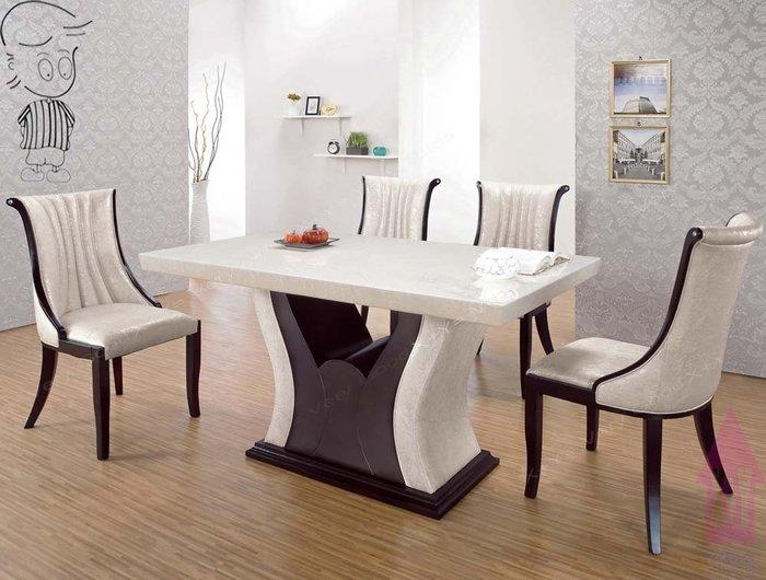【X+Y時尚精品傢俱】現代餐桌椅系列-凱撒 4.6尺石面餐桌不含餐椅.PU環保透氣皮.摩登家具