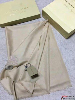 美國大媽代購 Burberry 巴寶莉 專櫃新色 優雅品味 羊絨圍巾英倫時尚 美國outlet代購
