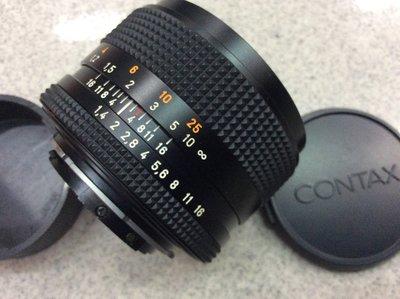 [ 保固一年][高雄明豐] 95新 CONTAX Carl Zeiss 蔡司Planar T* 50mm F1.4便宜賣