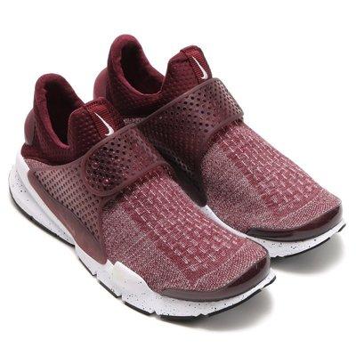 =CodE= NIKE SOCK DART SE PREMIUM 襪套式慢跑鞋(酒紅) 859553-600 潑墨 男女