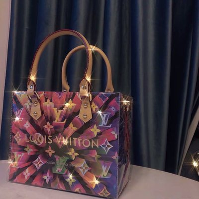 大牌紙袋改造大容量手提黃色pvc包袋定制材料包配件禮品袋改裝包