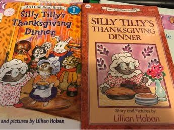 美國全新英文童書an i can read silly tilly's thanksgiving dinner n10
