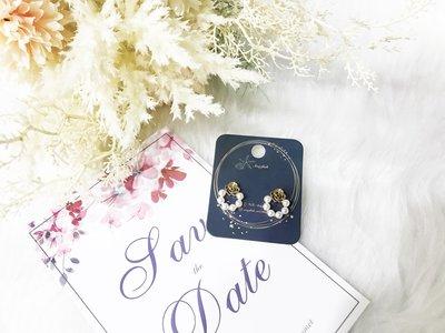【海星 Starfish】金玫瑰之戀 高雅細緻珍珠耳環