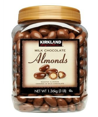 (漾霓)-代購~2罐優惠~Kirkland 科克蘭 杏仁巧克力 每罐1.36公斤-995550 (代購商品 下標詢問現貨