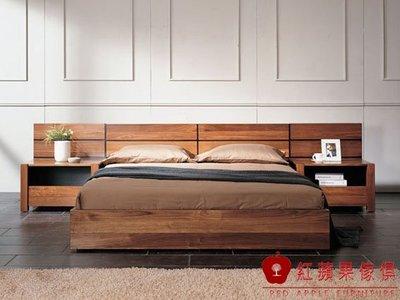 [紅蘋果傢俱] N20 床架 床頭櫃  全實木  臥室  餐椅  展示櫃 斗櫃 地櫃 工廠直營