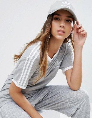 【Admonish】adidas Trefoil Cap 愛迪達 老帽 鴨舌帽 90s 彎帽 三葉草 灰色
