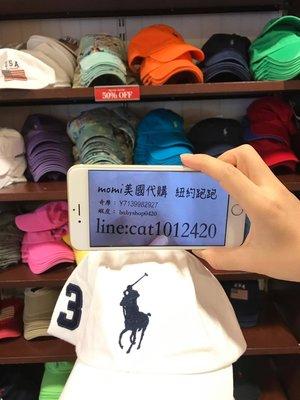 保證正品 (大馬logo) Polo by Ralph Lauren 保羅3號 鴨舌帽 純棉 帽子 白色/深藍色