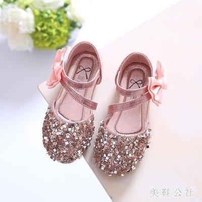ZIHOPE 女童演出鞋 夏季新款公主鞋2019春夏新款韓版亮片女童鞋寶寶鞋公主鞋ZI812