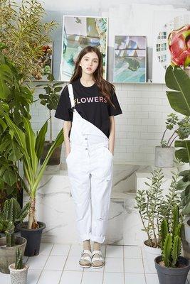 ☆AirRoom☆【現貨】2016aw WHITE BLANK Flowers S/S Tee 字體 logo 彩色 短