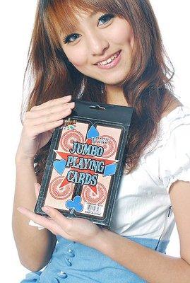魔術師 必備專用進口珍藏版寬12.5×高17.5cm 超 大 撲克牌  批發價 永和