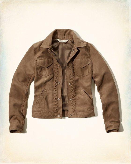 【天普小棧】HOLLISTER HCO Faux Suede Jacket仿麂皮短外套短夾克現貨S號現貨抵台
