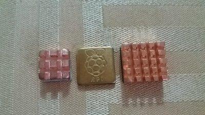 【莓亞科技】全新樹莓派 Raspberry Pi 3B+/3B/2B通用銅製散熱片(3片式, 含稅現貨NT$128)