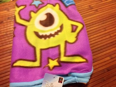 全新 怪獸大學大眼仔輕柔蓋毯/怪獸電力公司 冷氣毯/車用毯/保暖毯/毛毯