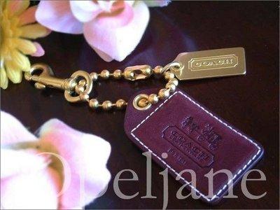 Coach 真皮車馬系列大旅行吊牌+金屬LOGO吊飾/鑰匙吊環可當鑰匙掛環 免運 愛Coach包包