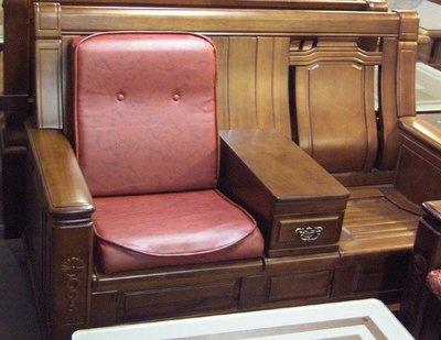 【南台灣傢俱】L型連身坐墊椅墊透氣皮(小型木製沙發專用)*****超低特價$630元