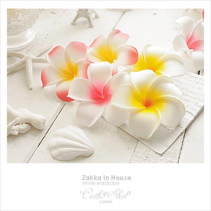 │Cathy ZAKKA│花園雜貨、自然森林系、峇里島夏威夷熱帶風格、仿真人造花/桃心浮水雞蛋花/蛋黃花-新三款可選