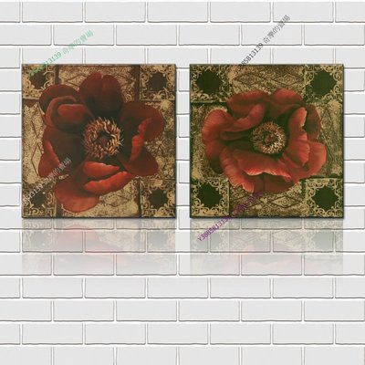 【30*30cm】【厚1.2cm】經典花卉-無框畫裝飾畫版畫客廳簡約家居餐廳臥室牆壁【280101_216】(1套價格)