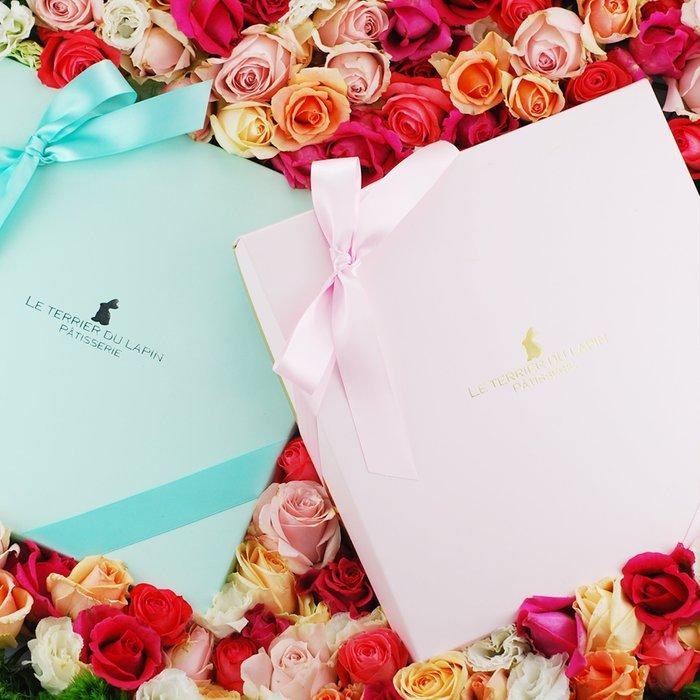 婚禮週邊-白兔洞甜點實驗室-法式囍餅禮盒/法式手工喜餅-甜蜜花海禮盒