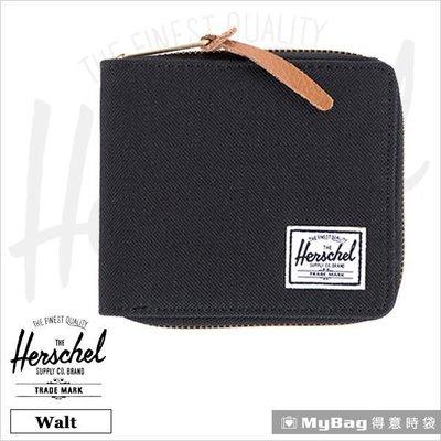 Herschel 皮夾 / 短夾 Walt-001 黑色 全拉鍊短夾 得意時袋