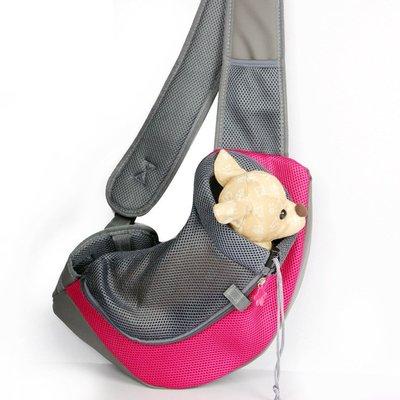 狗狗外出便攜單肩胸前斜挎背包貓包小型犬泰迪透氣四季通用寵物袋 DF